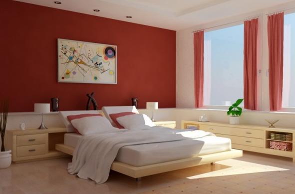 غرفة نوم مودرن عنابي وبيج | المرسال