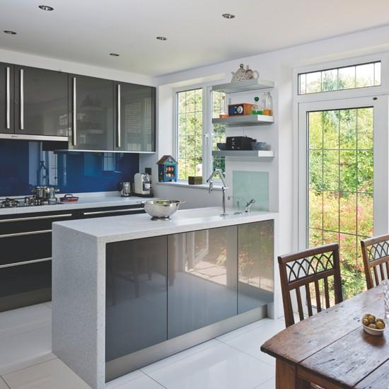 Kitchen Beautiful Modern Kitchen Design Kitchen Setup: اشكال مميزة للمطابخ الرمادي