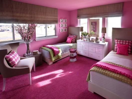 غرف نوم اطفال وردية اللون | المرسال