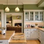 جدران باللون الزيتي بالمطبخ الناعم  - 155719