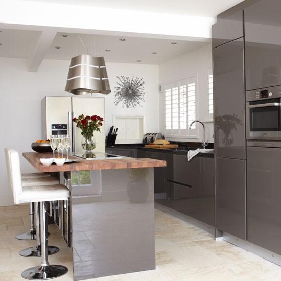 Grey Kitchen Units What Colour Floor: ديكورات رائعة للمطابخ الرمادي