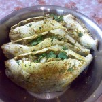 السمك الزبيدي بعد الحشو