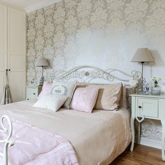 رسومات جدران هادئة بغرف نوم طراز فرنسي | المرسال