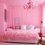 غرفة نوم رومانسية وردية  - 152852