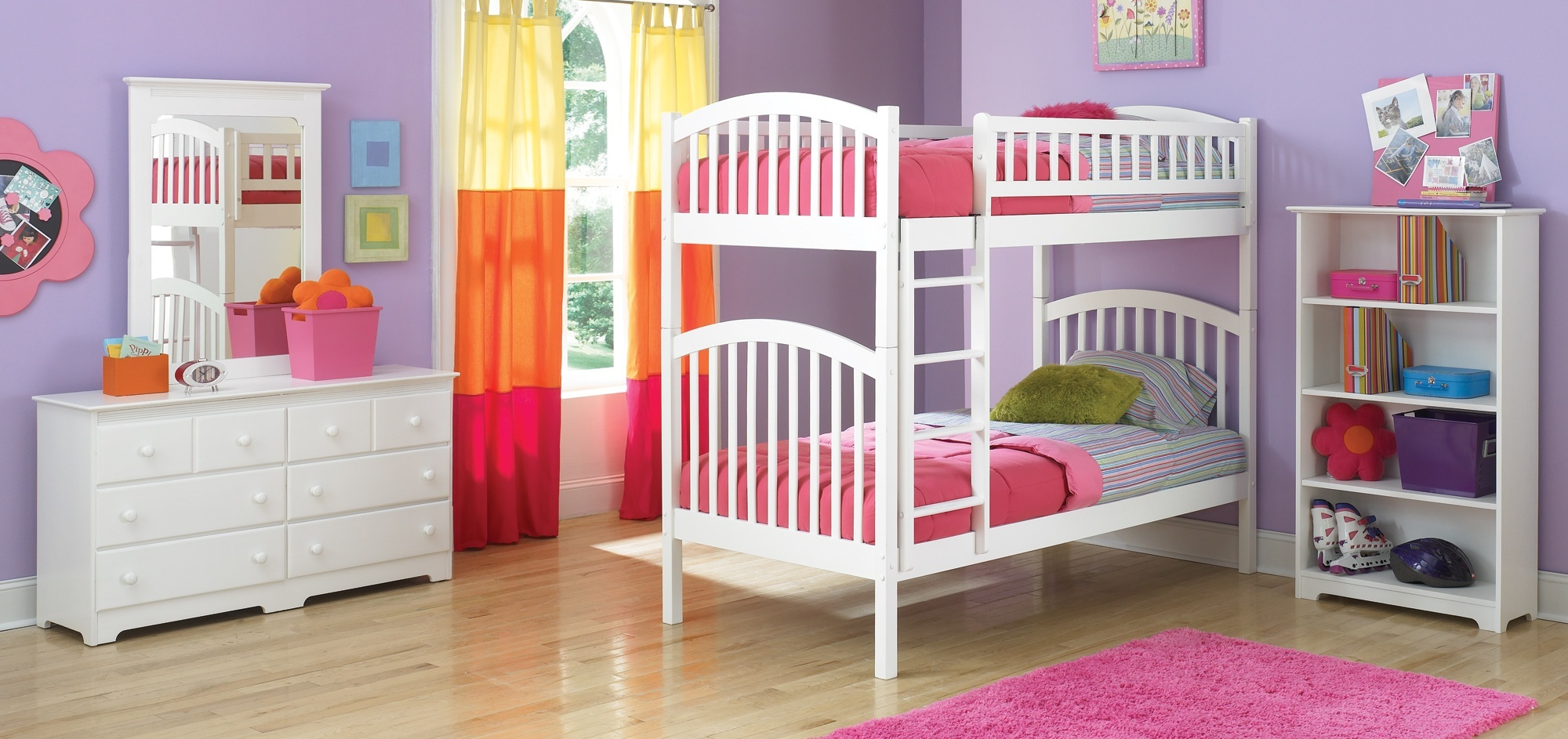 for Bunk bed girl bedroom ideas