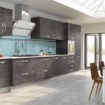 خزائن باللون الرمادي بالمطبخ الجميل  - 152871