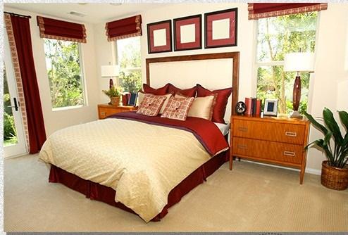 اجمل تصميم غرفة نوم عنابي وبيج | المرسال