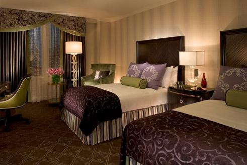 غرفة نوم للضيوف اكثر من رائعة بنفسجي وذهبي | المرسال