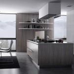 طاولة وارفف بالمطبخ لون رمادي  - 152879