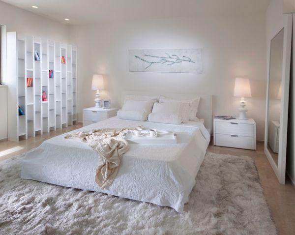 سجادة باللون الابيض بغرف النوم الناعمة | المرسال