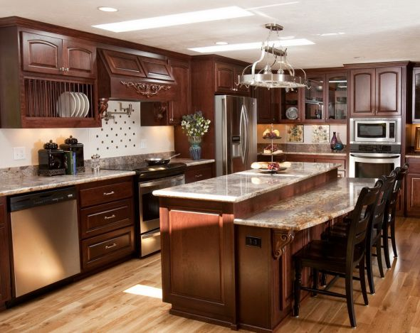 cherry vs white kitchen cabinets wood kitchen المرسال 13515