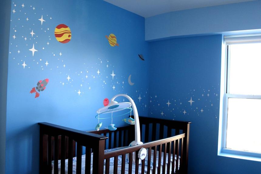 من اجمل الون غرف الاطفال السماوي المرسال