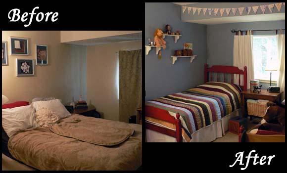 تغيير الديكور بغرف الاطفال قبل وبعد | المرسال