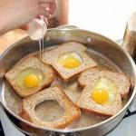 البيض المقلي مع التوست
