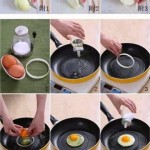 البيض المقلي بشرائح البصل