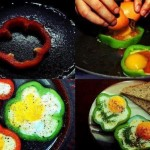 البيض المقلي بشرائح الفلفل
