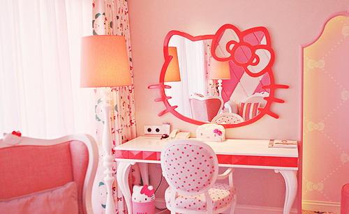 مرايا هيلو كيتي بغرفة نوم جديده | المرسال