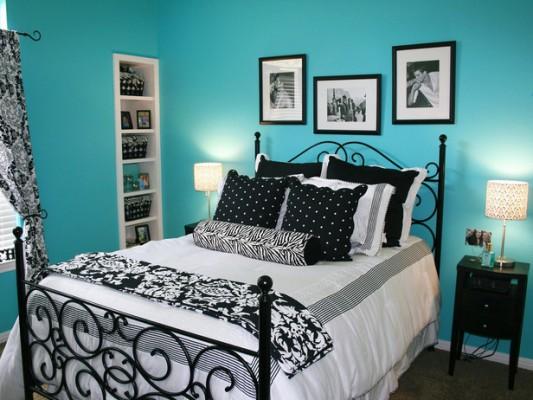 ارفف بالجدرن شكل جديد بغرف نوم لون تركواز | المرسال
