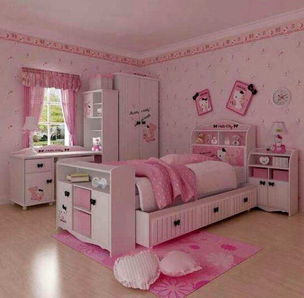 الوان غرف نوم بنات هيلو كيتي مميزة | المرسال