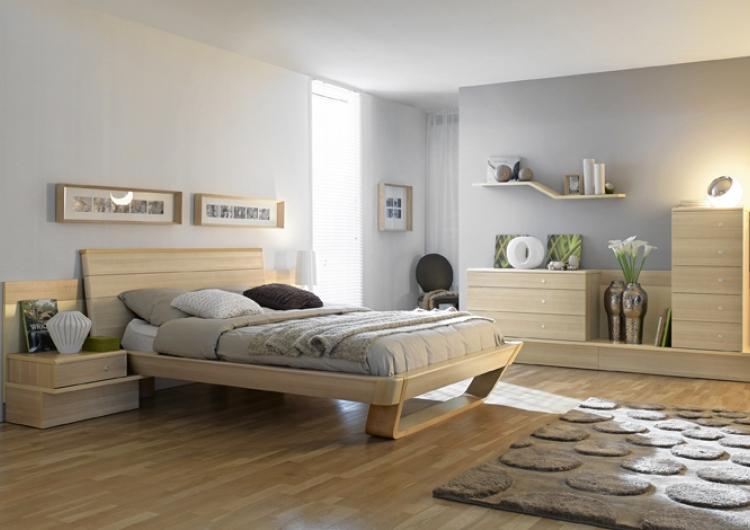 غرف نوم المطلق خشبية بلون بيج | المرسال