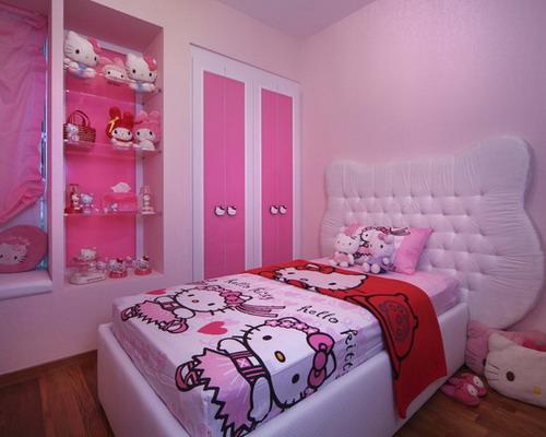 تزيين غرفة بنات هيلو كيتي حلوة | المرسال