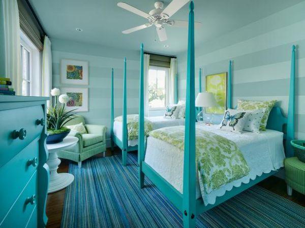 turquoise bedroom | المرسال