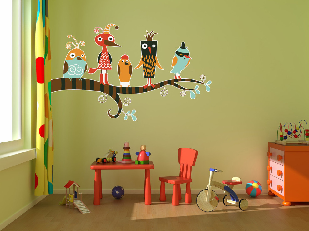 موديلات رسومات في غرف اطفال تحفة المرسال