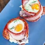 البيض وسط ملفوف اللحم