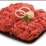 للون اللحم المفروم