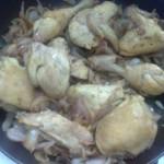 لون الدجاج بعد الطهي