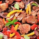 لون اللحم بعد الطهر