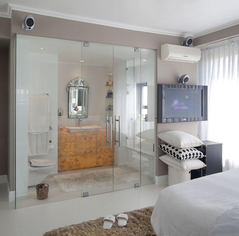 باب زجاج للحمام بغرف النوم جديد | المرسال