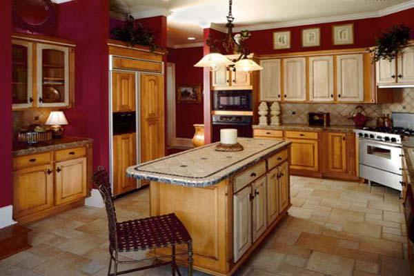 Red And Beige Kitchen المرسال