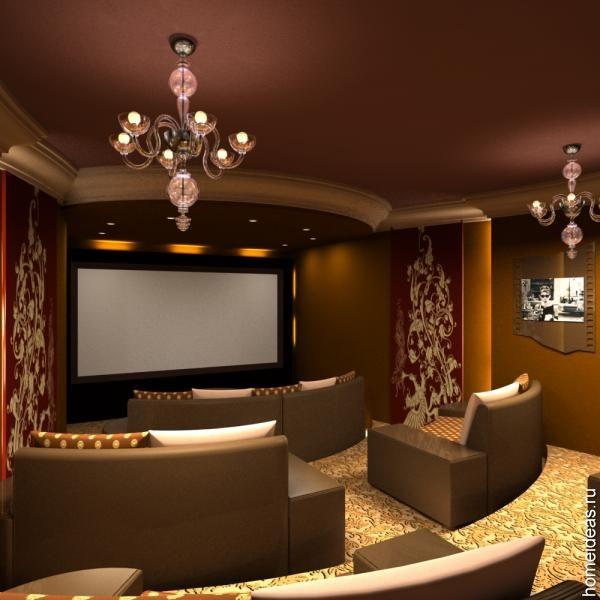 Home Theatre Decorations: تشكيل مسرح منزلي انيق جدا