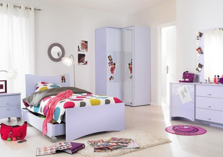 سرير باللون الابيض بغرف نوم اطفال المطلق | المرسال