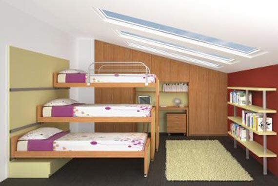 سرير ثلاث ادوار لغرف نوم البنات | المرسال