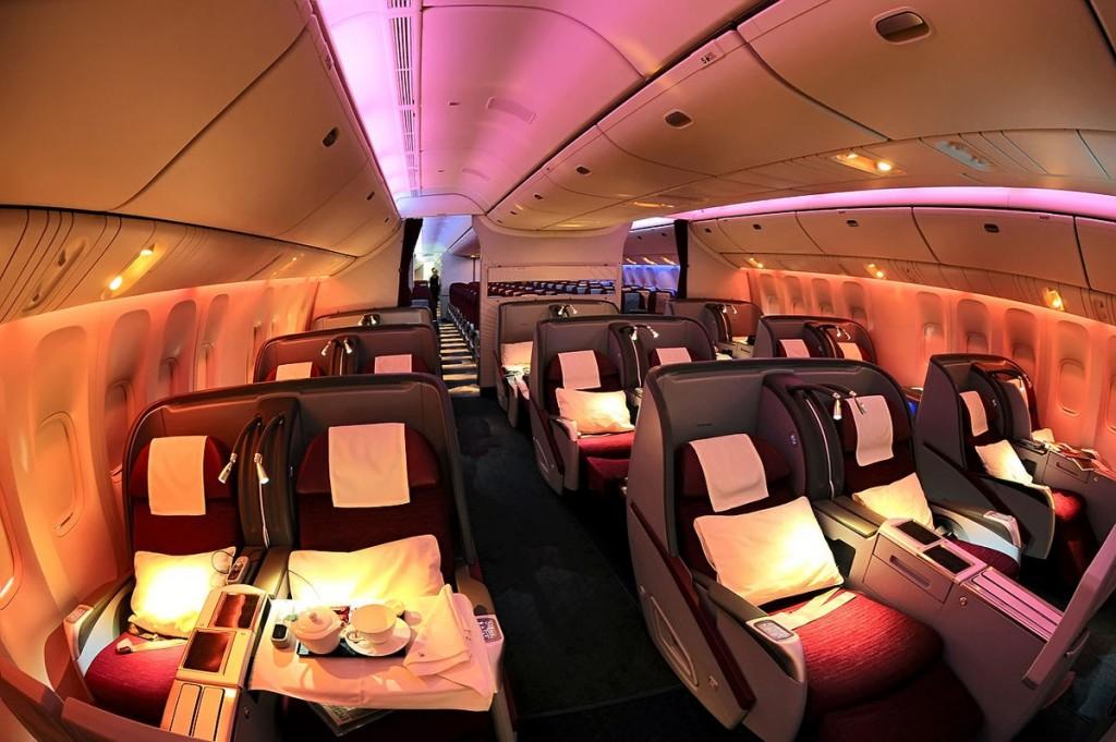 Boeing 777-200LR Business Class cabin Beltyukov   المرسال