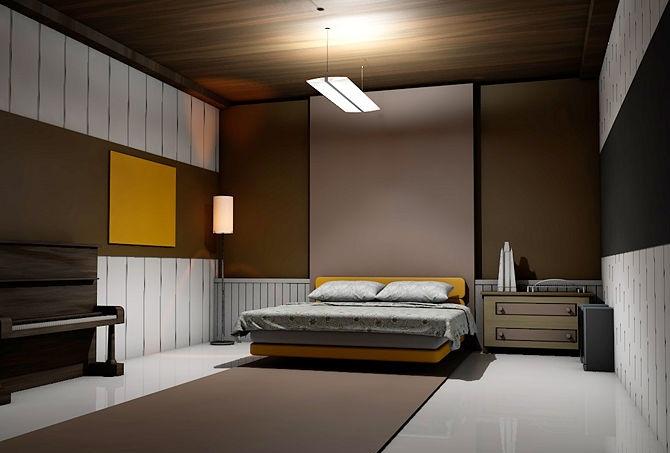 اللون البني في دهانات غرف النوم المرسال