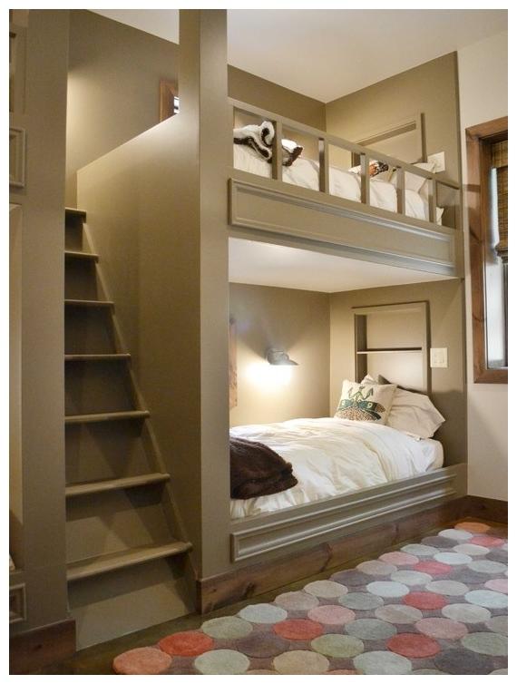 اجمل تصاميم غرف نوم طابقين | المرسال