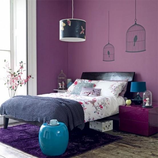 اجمل اشكال غرف نوم بنفسجي مميزة | المرسال