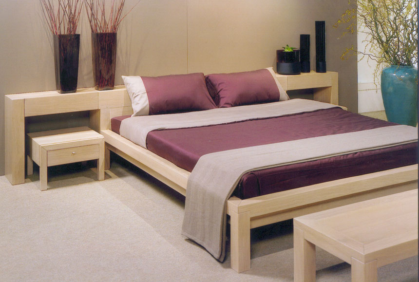 simple double bed designs in wood - 860×579