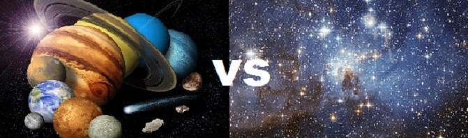 الفرق بين النجم والكوكب   المرسال