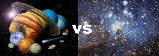 difference between stars and planets with comparison - 671×239