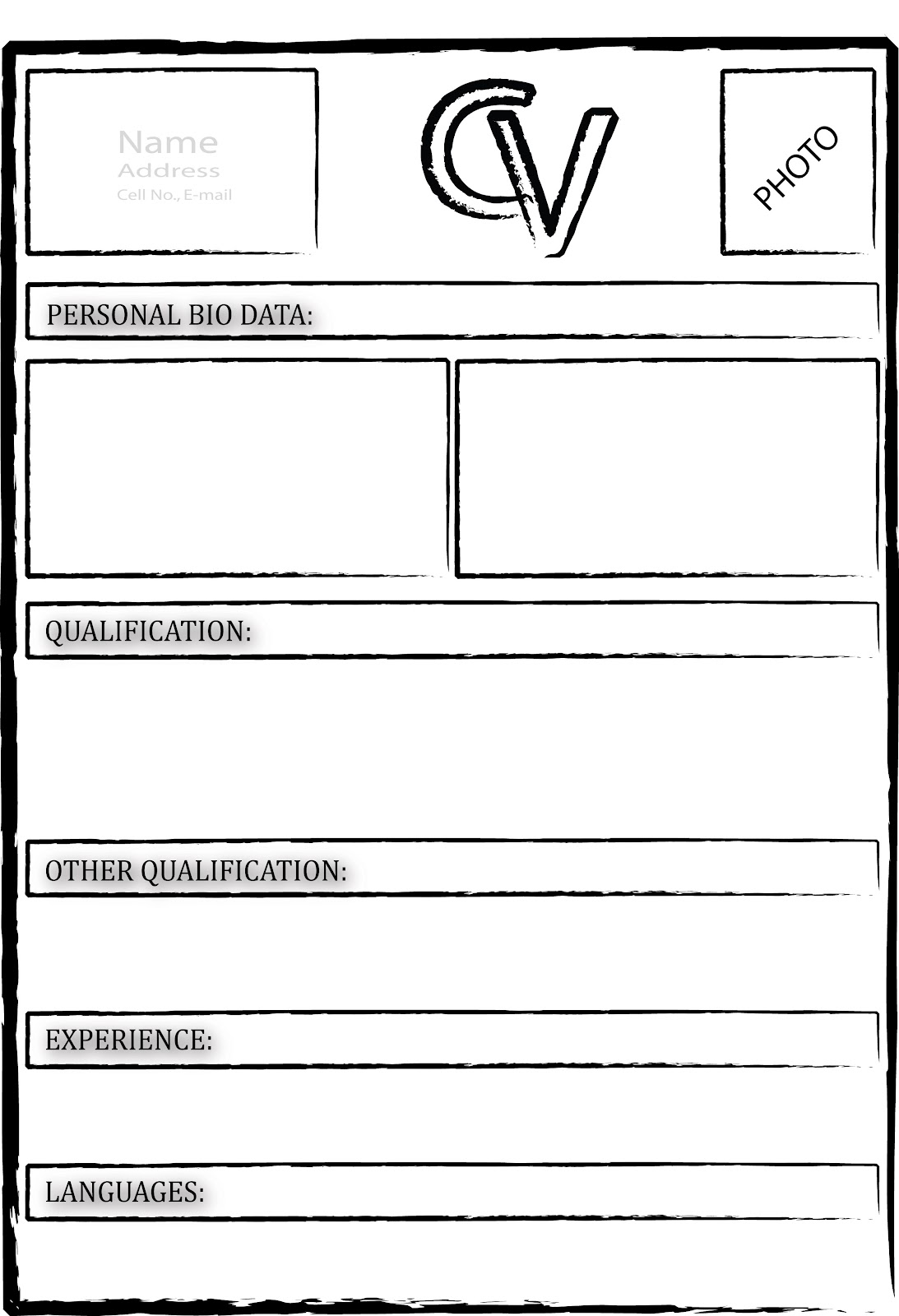 curriculum vitae blank form by - Free Blank Resume Templates Download