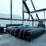 اللون الاسود بغرف النوم الانيقة