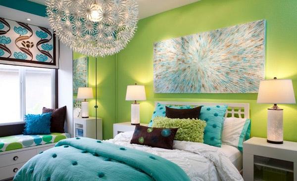 حوائط غرف نوم خضراء اللون | المرسال