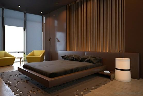 غرف نوم باللون البني | المرسال