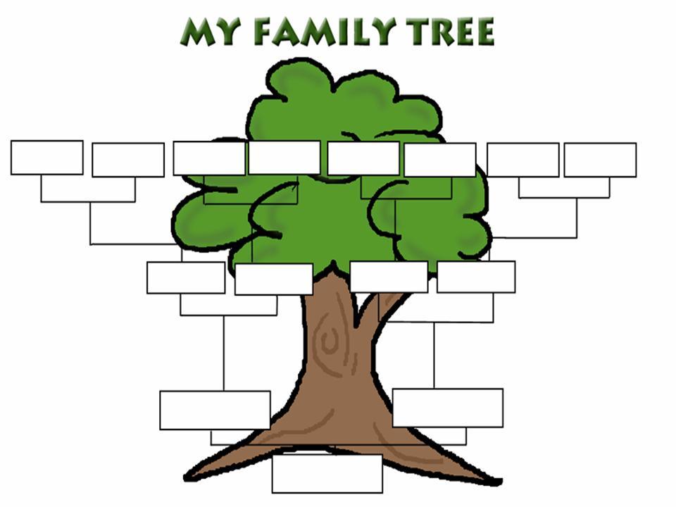 Summary Blank Family Tree Template