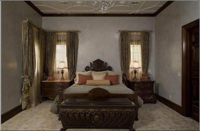 اجمل غرف نوم قديمة باللون البني | المرسال