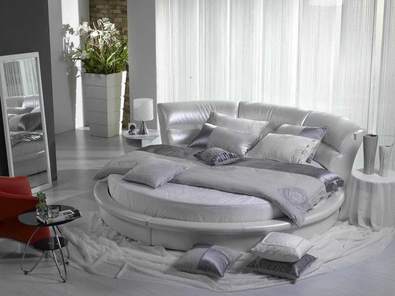 تصميم غرف نوم سرير دائري | المرسال